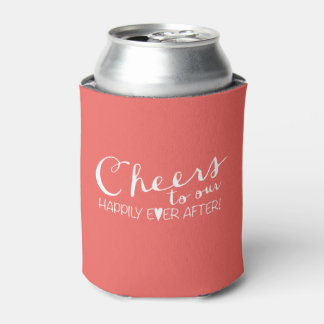 Cheers to our Happily Ever After | Wedding Can Cooler