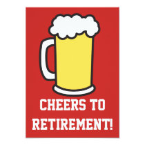 Cheers To Retirement Beer Party Invitation