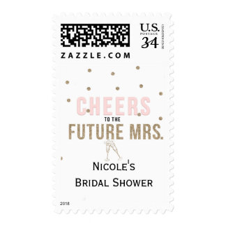 Cheers to the Future Mrs. Modern Bridal Shower Postage