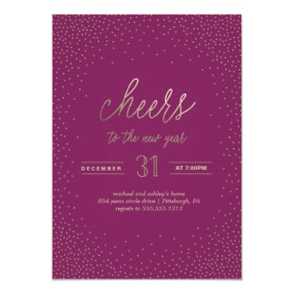 CHEERS TO THE NEW YEAR holiday party invitation