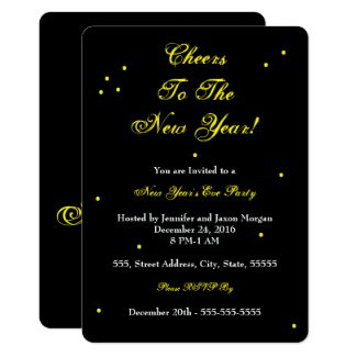 Cheers to the New Year Party Invitations