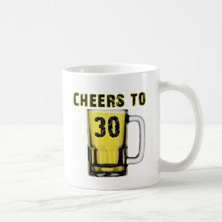 Cheers to Thirty . Birthday Coffee Mugs