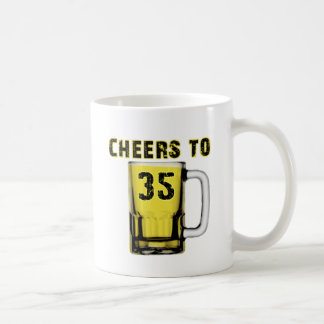 Cheers to Thirty Five. Birthday Coffee Mug