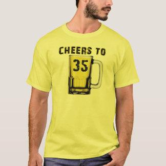 Cheers to Thirty Five. Birthday T-Shirt