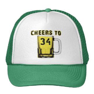 Cheers to Thirty Four. Birthday Mesh Hats