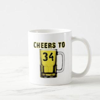 Cheers to Thirty Four. Birthday Mugs