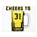 Cheers to Thirty One. Birthday Personalized Invitation