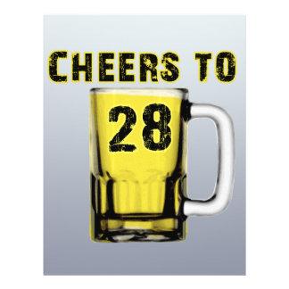 Cheers to Twenty Eight. Birthday Full Color Flyer