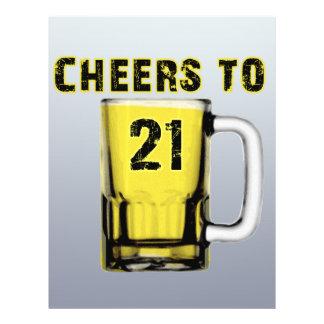 Cheers to Twenty One. Birthday Flyer