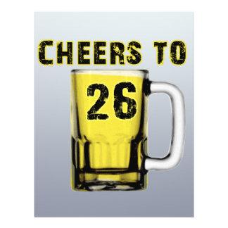 Cheers to Twenty Six. Birthday Flyer