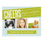 CHEERS TO YOU AND YOURS | HOLIDAY PHOTO CARD POSTCARD