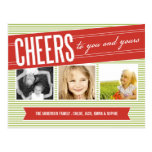 CHEERS TO YOU AND YOURS | HOLIDAY PHOTO CARD POST CARDS