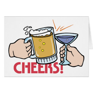Cheers Toast Word Play Card