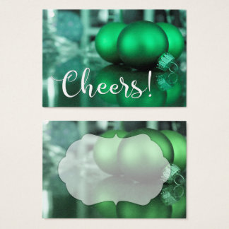 Cheers Typography Green Toned Ornaments Gift Tag