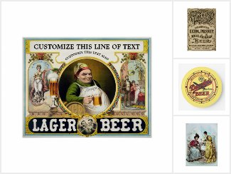 Cheers! Vintage Beer, Beverages and Brewery Art