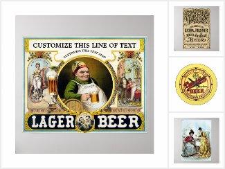 Cheers! Vintage Beer, Beverages and Brewery Art