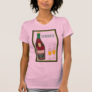 CHEERS VINTAGE CHAMPAGE TOAST print T-Shirt