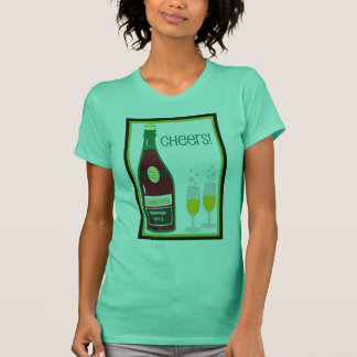 CHEERS VINTAGE CHAMPAGNE TOAST print T-Shirt