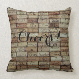 Cheers! Wine Corks of the World pillow