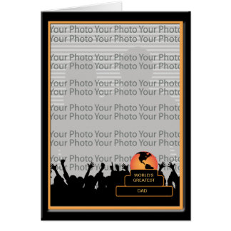 Cheers Worlds Greatest Dad Award Photo Frame Card