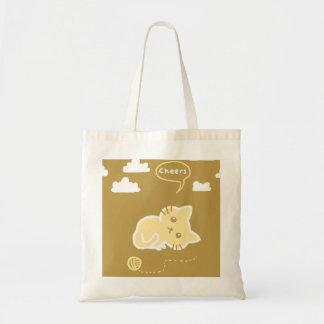 Cheers Yellow Cat Budget bag
