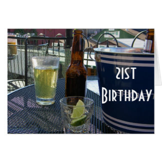 CHEERS - YOU ARE 21 CARD
