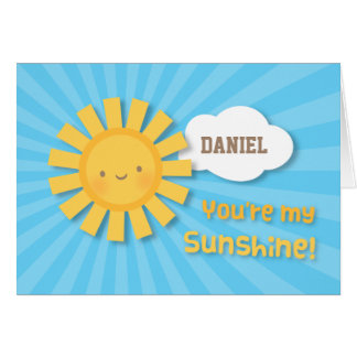 Cheery and Bright You Are My Sunshine Greeting Card