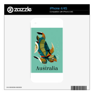Cheery Australian Sea Turtle Decal For iPhone 4