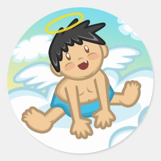 Cheery Baby Boy: Angel 2 Sticker