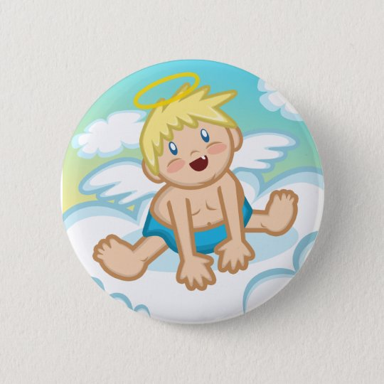 Cheery Baby Boy: Angel Button