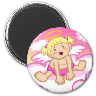Cheery Baby Girl: Angel Magnet