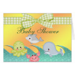 Cheery Baby Sea Creatures Baby Shower Cards