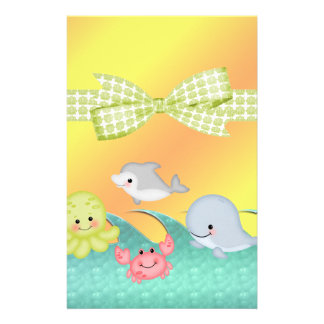 Cheery Baby Sea Creatures Baby Shower Stationery