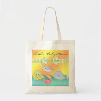 Cheery Baby Sea Creatures Baby Shower Tote Bag