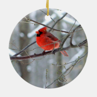 Cheery Cardinal Ceramic Ornament