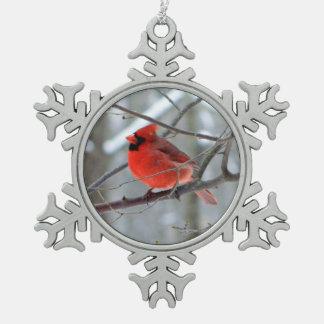 Cheery Cardinal Snowflake Ornament