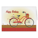 Cheery Cherry Bicycle Card
