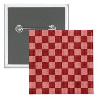 Cheery Cherry Check 2 Inch Square Button