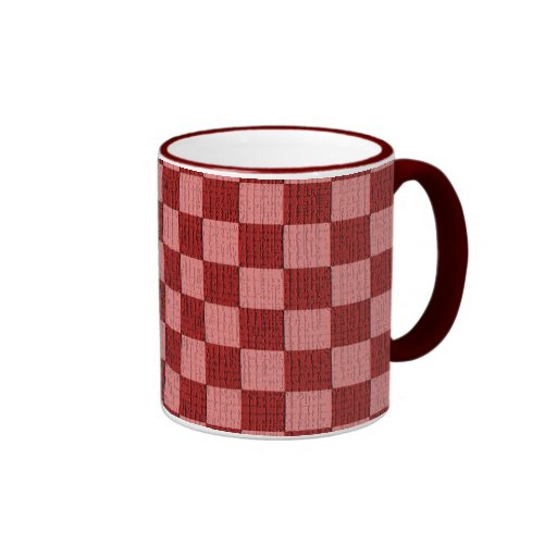 Cheery Cherry Check Coffee Mugs