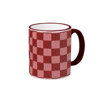 Cheery Cherry Check Ringer Coffee Mug