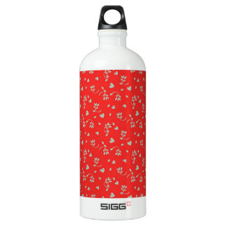 Cheery Cherry Red Ditsy Print Water Bottle