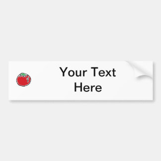 Cheery Cherry Tomato Cartoon Car Bumper Sticker