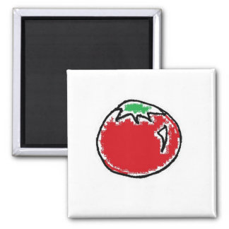 Cheery Cherry Tomato Cartoon Magnet
