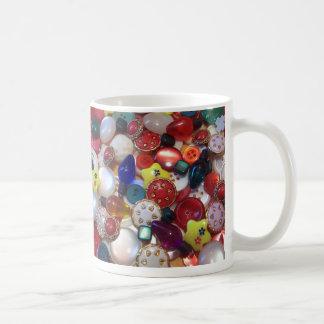 Cheery Christmas Button Collage Coffee Mugs