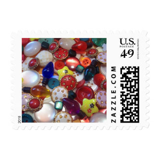 Cheery Christmas Button Collage Postage
