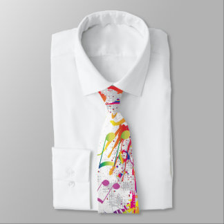 Cheery Colorful Bright Music notes Tie