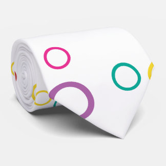 Cheery colorful circles tie