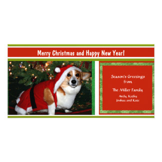 Cheery Holiday Greetings Custom Photo Personalized Card
