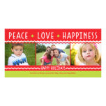 Cheery Holiday (Red / Y Green) Collage Photo Card