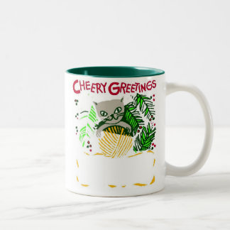 Cheery Kitty Greetings - Mug